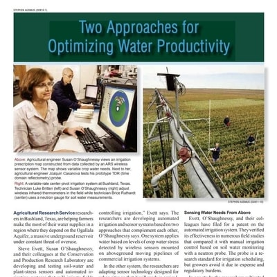 Two Approaches for Optimizing Water Productivity Article