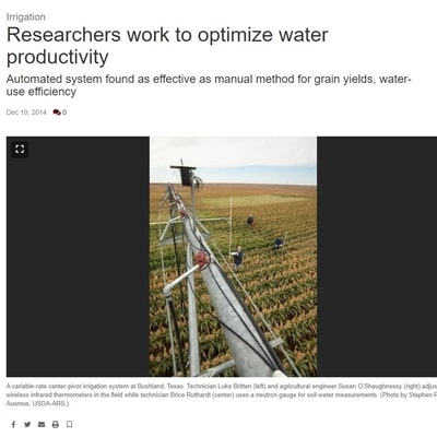 Researchers Work to Optimize Water Productivity
